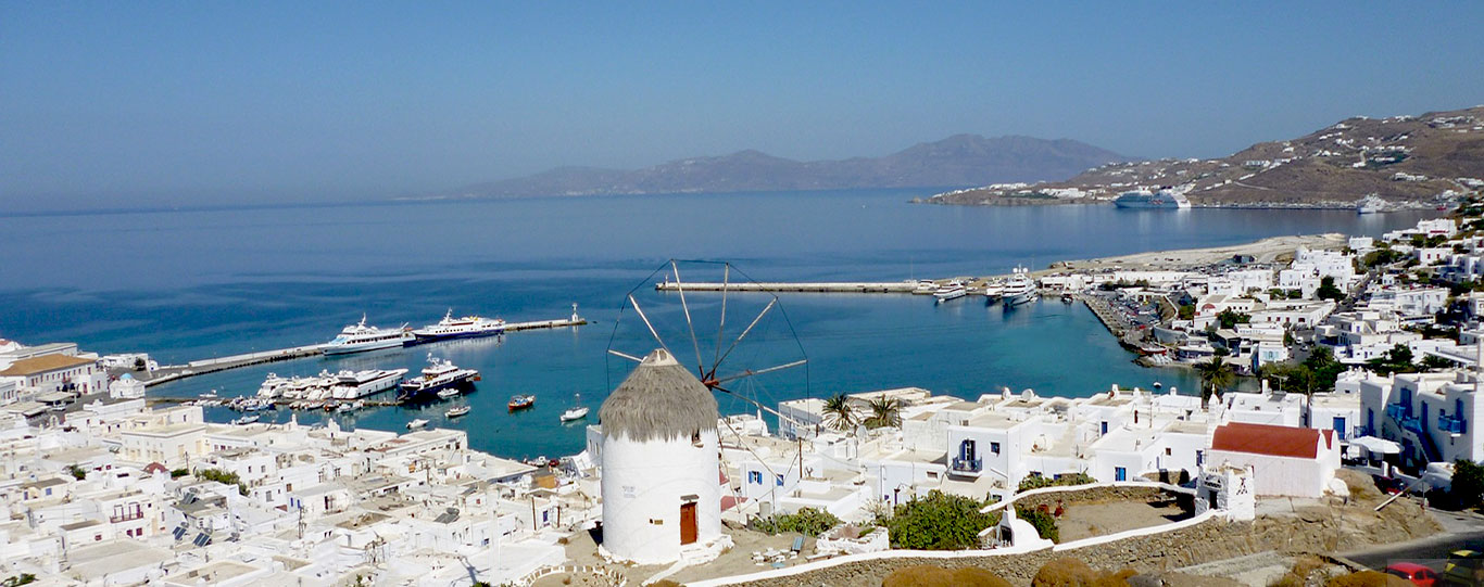 The Whitewashed Mykonos Town