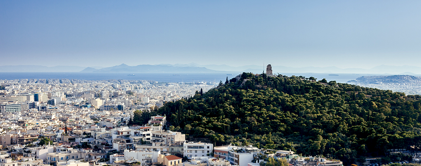 Panoramic View Of Athens City & The Lycabettus Hill